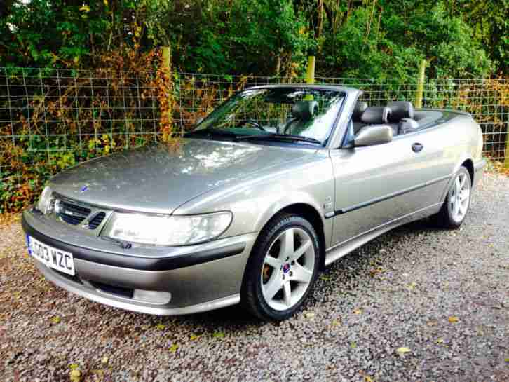 2003 SAAB 9 3 SE TURBO CONVERTIBLE CONVERTABLE OR CABRIOLET no reserve auction