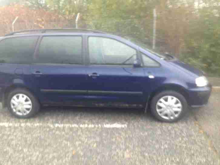 2003 SEAT ALHAMBRA 1.9TDI 6 SPEED, REFERENCE, (7 SEATER)