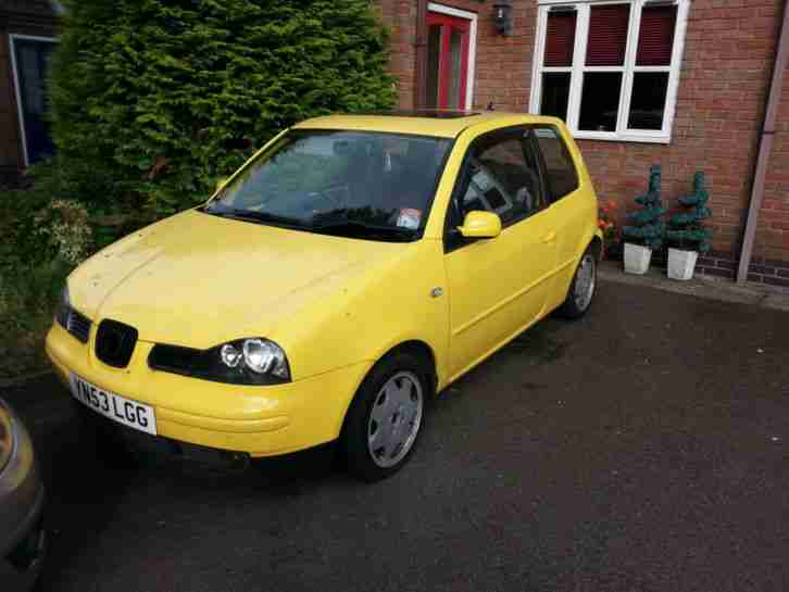 seat 2003 arosa 16v sport yellow car for sale. Black Bedroom Furniture Sets. Home Design Ideas