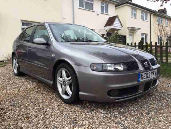 seat 2003 leon 20v turbo cupra silver car for sale. Black Bedroom Furniture Sets. Home Design Ideas