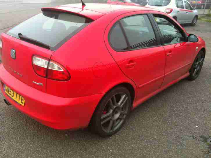 seat 2003 leon cupra r red 225 wife forces sale car. Black Bedroom Furniture Sets. Home Design Ideas