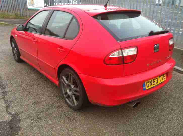 seat 2003 leon cupra r red 225 wife forces sale car for sale. Black Bedroom Furniture Sets. Home Design Ideas
