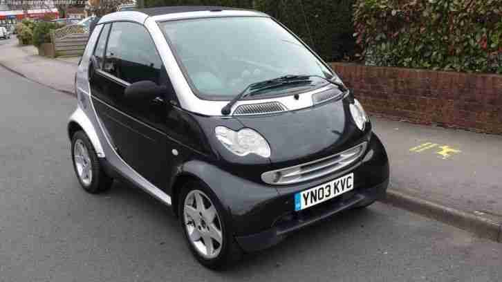 2003 SMART CITY PULSE 50 AUTO SILVER, LOW MILEAGE CONVERTIBLE, GOOD CONDITION