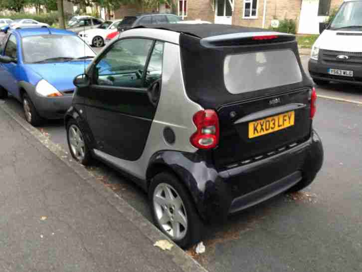 2003 SMART CITY PULSE 50 FORTWO AUTO, LOW MILES, CONVERTIBLE, SPARES OR REPAIRS