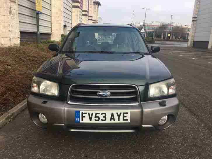 2003 SUBARU FORESTER X ALL WEATHER GREEN/GREY BIG SUN ROOF NO RESERVE