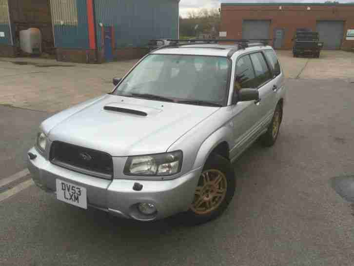 subaru 2003 forester xt turbo silver manual 5 speed car for sale. Black Bedroom Furniture Sets. Home Design Ideas
