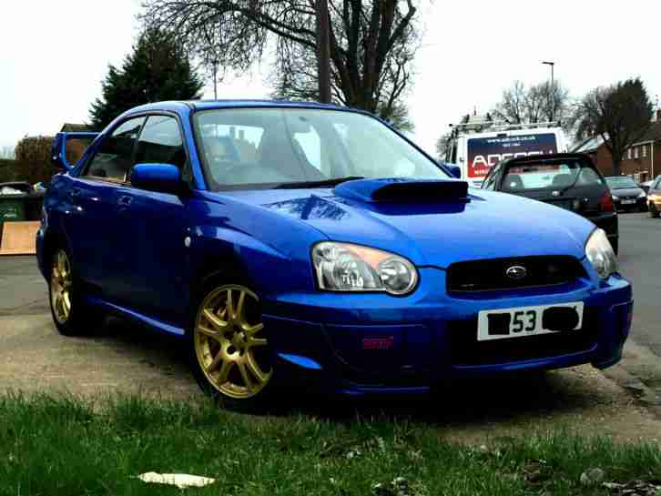 subaru 2003 impreza wrx sti type uk blue 75k miles car for sale. Black Bedroom Furniture Sets. Home Design Ideas
