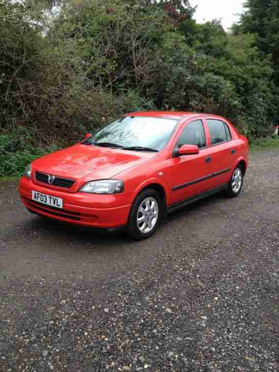 2003 VAUXHALL ASTRA ACTIVE RED 1 OWNER FROM