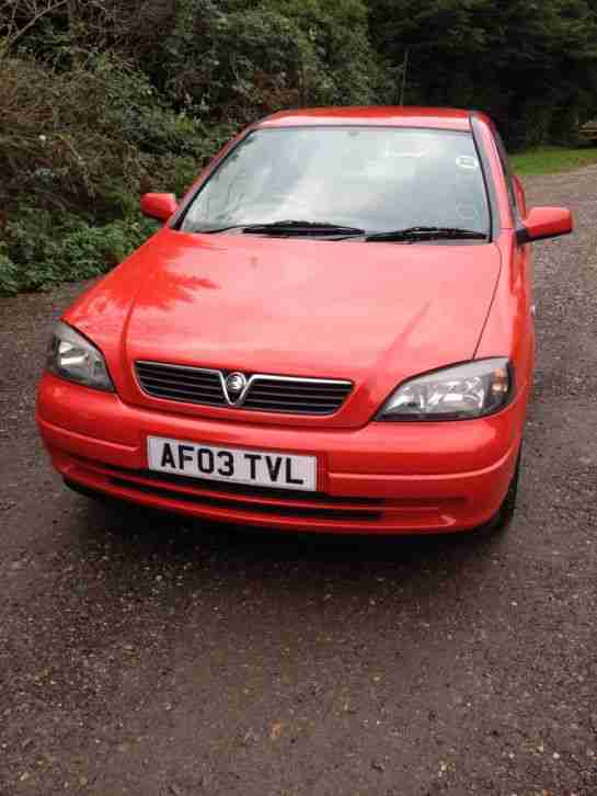 2003 VAUXHALL ASTRA ACTIVE RED 1 OWNER FROM NEW