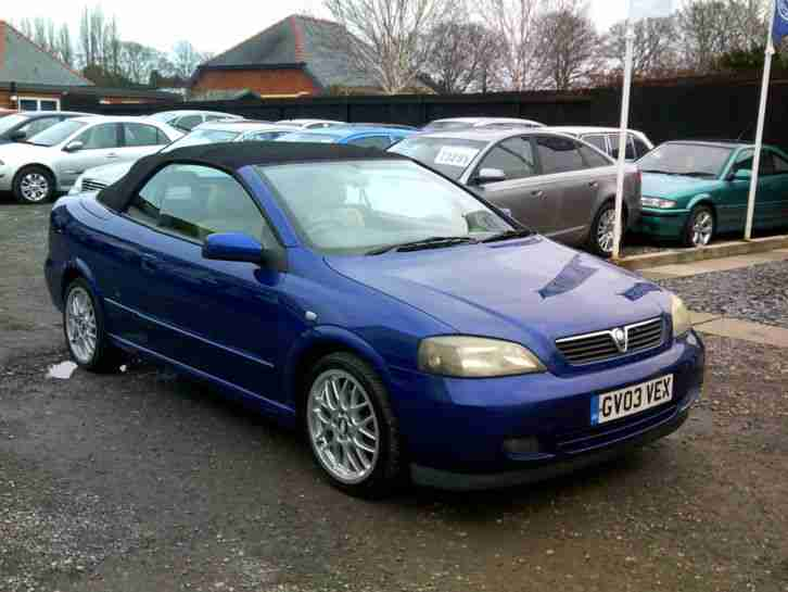 vauxhall 2003 astra bertone convertible ltd edition 100 blue car for sale. Black Bedroom Furniture Sets. Home Design Ideas