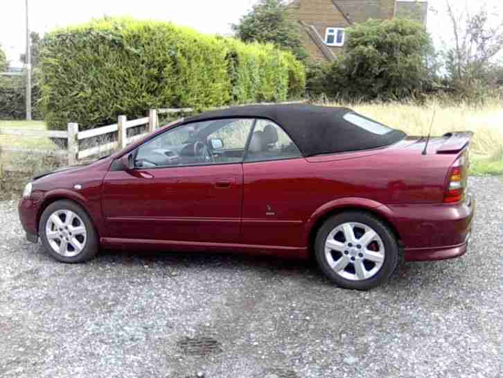Vauxhall 2003 Astra Coupe Convertible Red Car For Sale