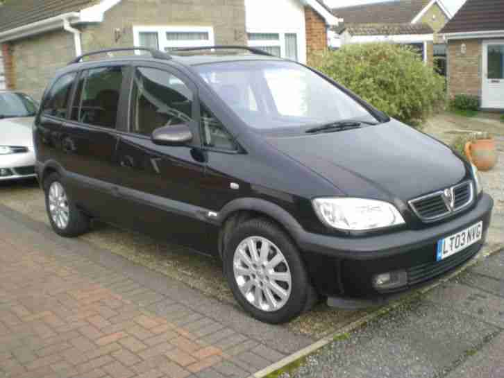 2003 vauxhall zafira elegance dti black car for sale. Black Bedroom Furniture Sets. Home Design Ideas