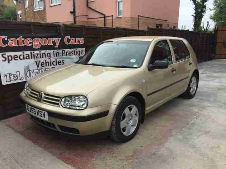 2003 VOLKSWAGEN GOLF TDI SE BEIGE [FULL S/HISTORY, 3 F/KEEPERS, ALLOYS, TOWBAR]