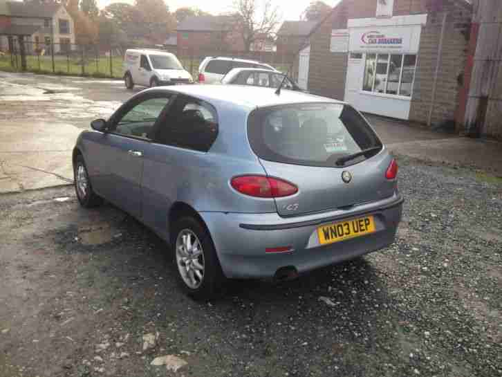 2003 alfa romeo 147 lusso twin spark 1.6 16v in blue spares or repair