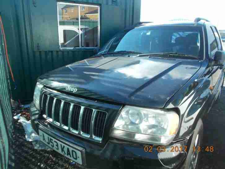 2003 jeep grand cherokee diesel automatic spares or repairs
