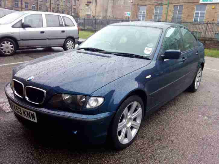 2003 on 53 BMW 3 series 318 i SE 1.8 Petrol, Blue, Low Mileage with Tow Bar VGC