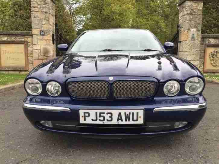 2003 x350 NEW MODEL JAGUAR XJR V8 S/C AUTO BLUE LOW MILES 1 OWNER FJSH P/X SWAP