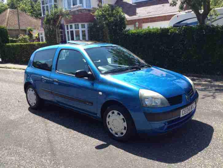 Renault 2004 04 Clio Expression 3dr Blue 72k Hpi Clear  Car For Sale