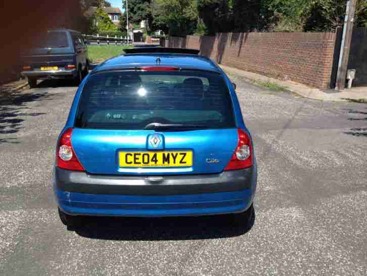 2004/04 RENAULT CLIO EXPRESSION 3DR BLUE 72K HPI CLEAR