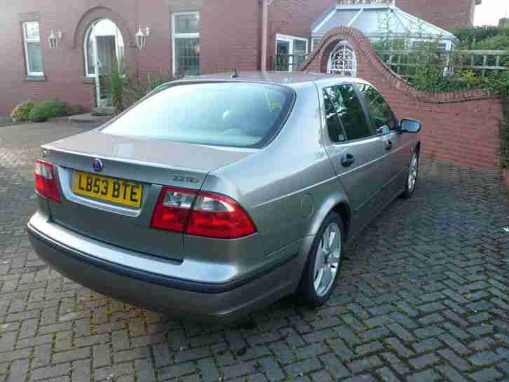 2004/53 Saab 9-5 2.2TiD Vector Manual Saloon Grey Metallic Black Leather 2 Owner