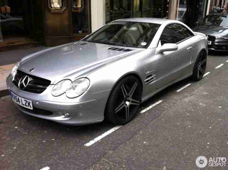 2004 54 facelift mercedes sl600 v12 biturbo silver 608. Black Bedroom Furniture Sets. Home Design Ideas