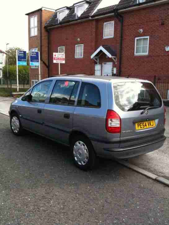 2004 54 VAUXHALL ZAFIRA Life 1.6 Silver 7 seater 12 months MOT People carrier