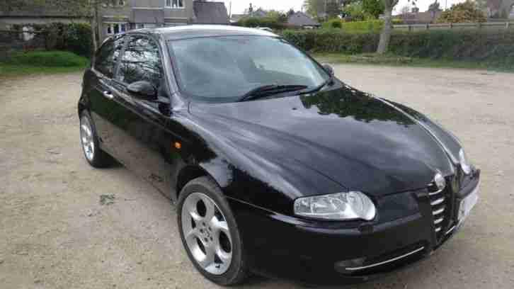 alfa romeo 2004 147 t spark lusso black 3 door hatchback car for sale
