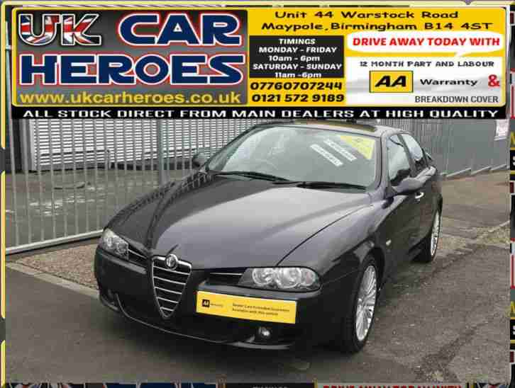 2004 ALFA ROMEO 156 2.4 JTDM 20V M JET TI SPORTS + BLACK Ti LEATHER + Ti ALLOYS