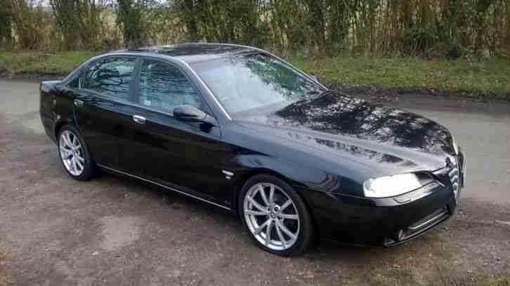 Alfa Romeo 2004 166 Twin Spark Lusso Black Car For Sale