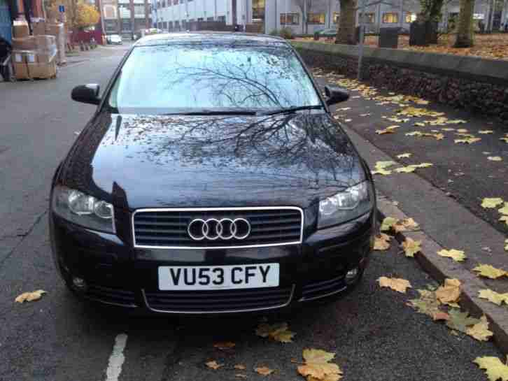 2004 AUDI A3 SPORT TDI BLACK NO RESERVE AUCTION AT A BARGAIN PRICE