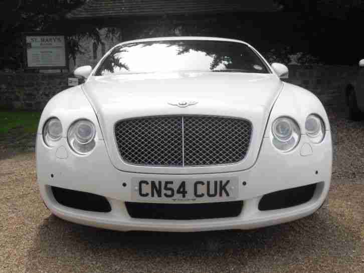 2004 BENTLEY CONTINENTAL GT AUTO WHITE