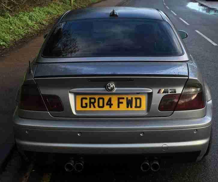 BMW 2004 M3 SMG E46 Convertible 95K Silver Grey Hardtop