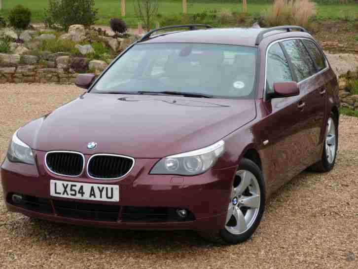 BMW 2004 RED 5 series 530d Estate Panoramic sunroof. car for sale