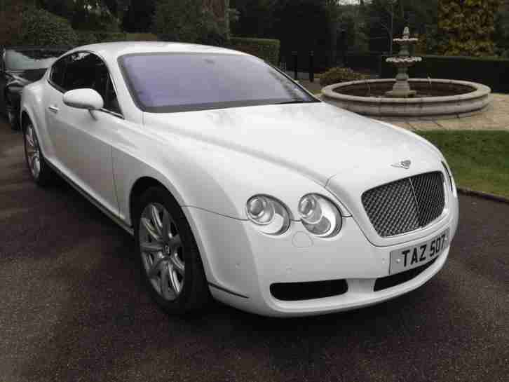 bentley 2004 continental 6 0 auto gt white low mileage. Black Bedroom Furniture Sets. Home Design Ideas