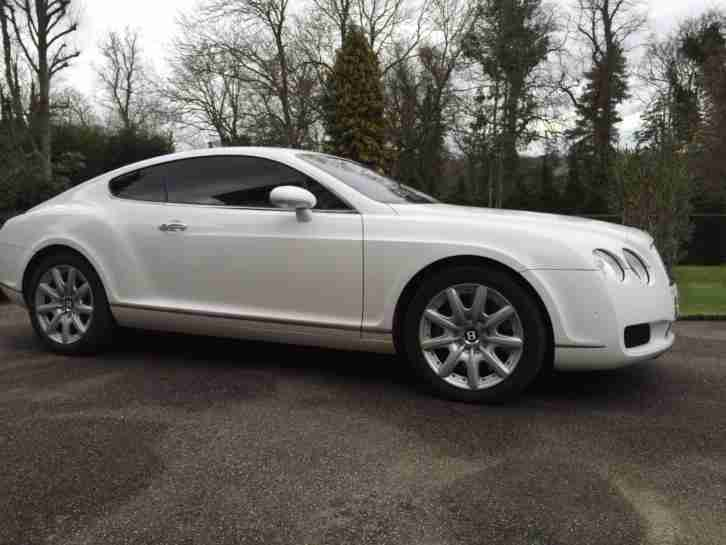 2004 Bentley Continental 6.0 auto GT White Low Mileage 47,000 Mulliner