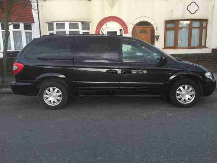 2004 CHRYSLER GRAND VOYAGER LTD XS CRDA BLACK PETROL LPG 3301cc