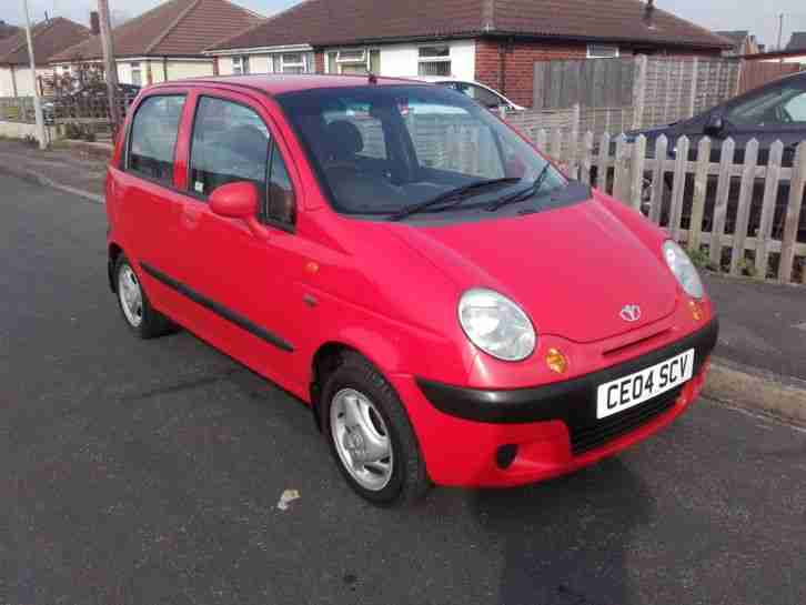 2004 DAEWOO MATIZ SE+ RED 1.0