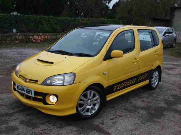 Daihatsu 2004 Yrv Turbo 130 Auto Yellow Very Rare Tidy Car Low Miles