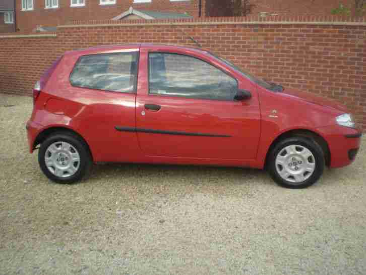 Fiat 2004 Punto Active 8v 3 Door Bright Red Car For Sale