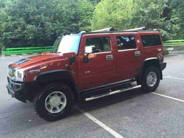 2004 HUMMER H2 6.0 AUTO BRONZE LPG/GAS LEATHER SEATS SAT/NAV