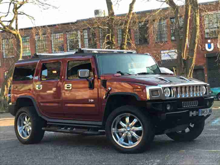 2004 HUMMER H2 ADVENTURE VA1 AUTO RED
