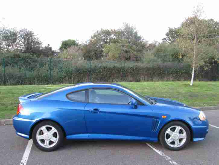 2004 HYUNDAI COUPE SE BLUE FULL LEATHER 12 MONTHS M.O.T