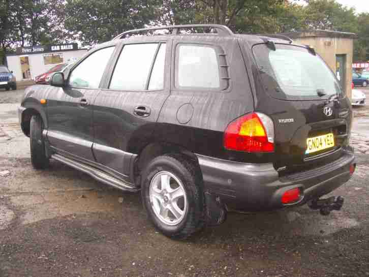 2004 HYUNDAI SANTA FE BLACK MOT AUG 2015 1 OWNER 760003KEYS NO RESERVE FROM £100
