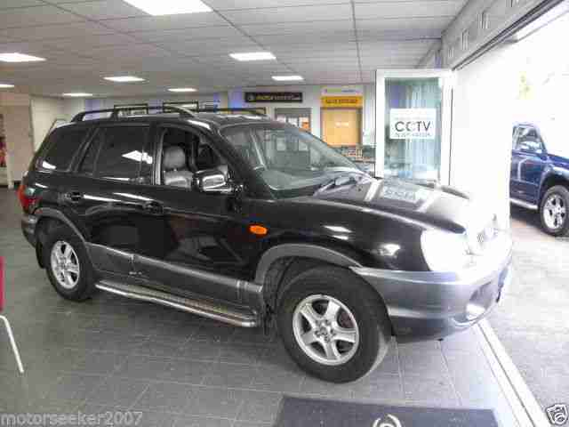 2004 HYUNDAI SANTA FE V6 AUTO BLACK only 81000 miles auto 4x4 top of range