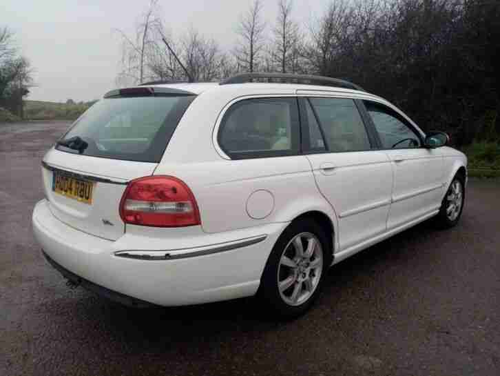2004 JAGUAR X TYPE SE 2.0 DIESEL ESTATE MANUAL WHITE MOT JULY 2020 2 KEYS TOWBAR