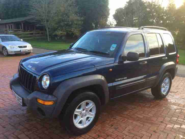 jeep 2004 cherokee 2 8 crd sport auto blue diesel car for. Black Bedroom Furniture Sets. Home Design Ideas