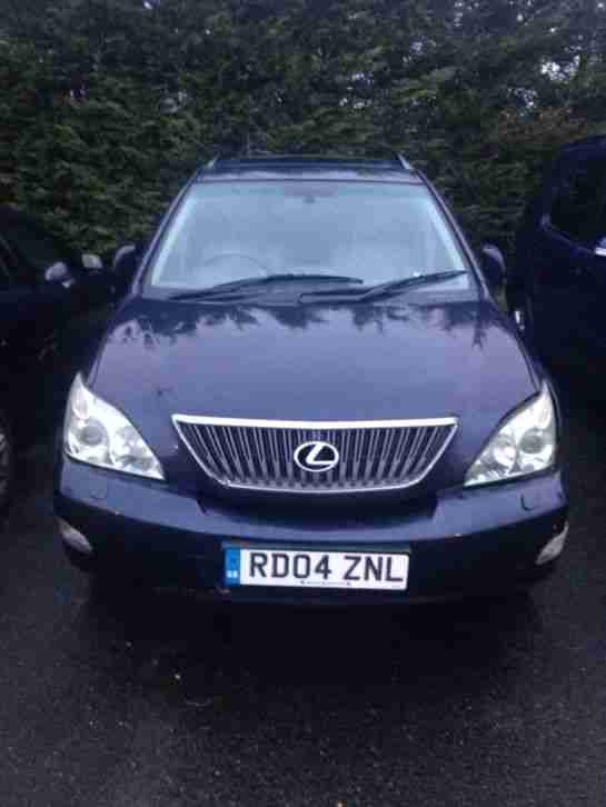 2004 Lexus RX 300 SE SUV 4wd 3.0 Petrol blue Automatic SPARES OR REPAIR