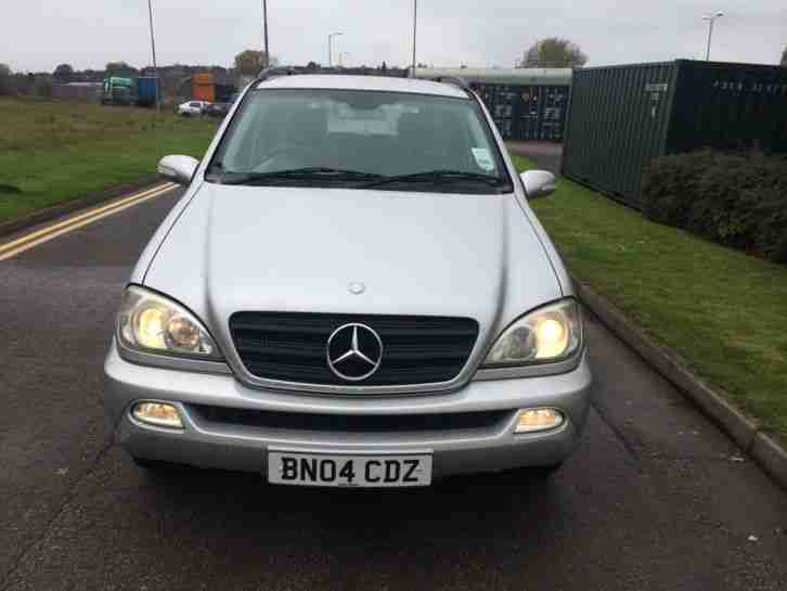 2004 MERCEDES ML270 CDI AUTO SILVER/FACE LIFT/TOP SPEC/HISTORY/7 SEATS/2 KEYS/PX