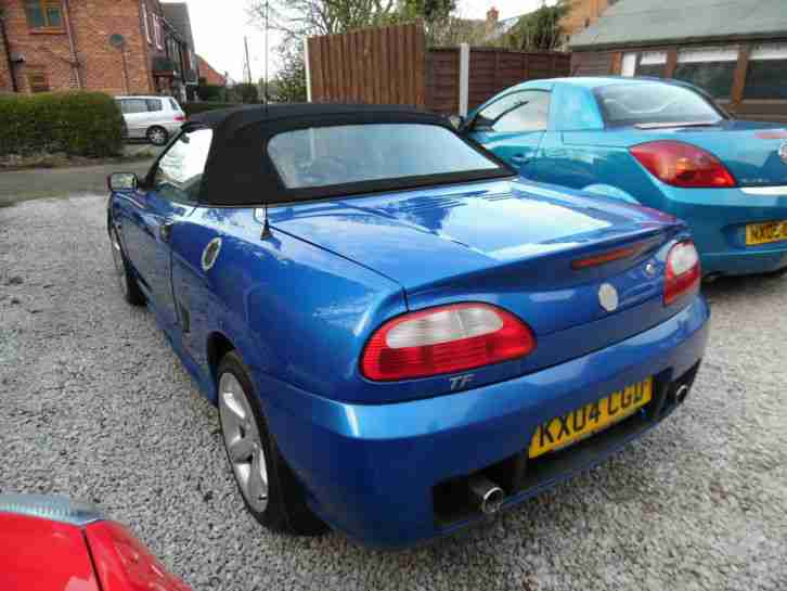2004 MG TF METALLIC BLUE 1.6 2 DOOR CONVERTIBLE