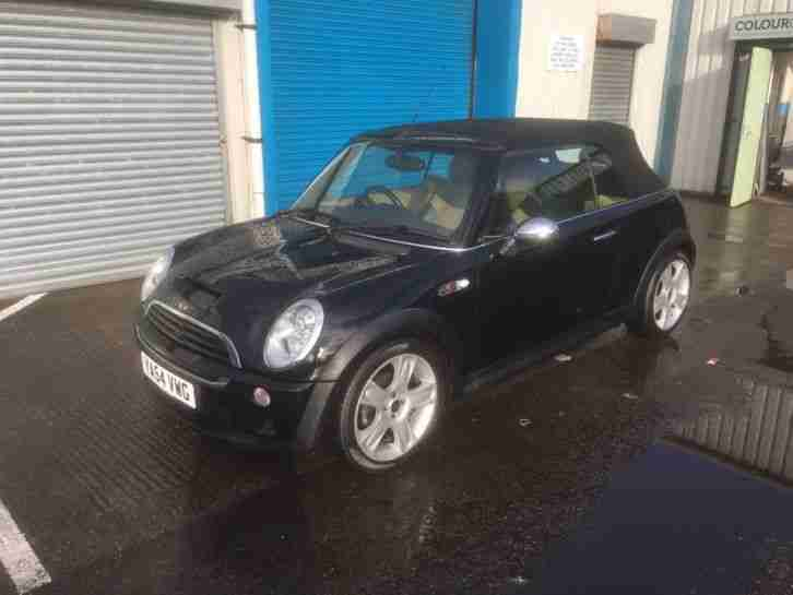 mini 2004 cooper s black convertable 1 6 car for sale. Black Bedroom Furniture Sets. Home Design Ideas